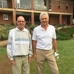 Playing for the Men's B Grade Final - Dave Harrington & Peter Sahb
