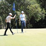 Chantha Kong and Corey Fawkes on the 8th green