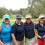 Merrilyn Middleton (NAGC Captain), Julie Crafter, Amanda Warden (RAGC), Prue Henschke (Tanunda)